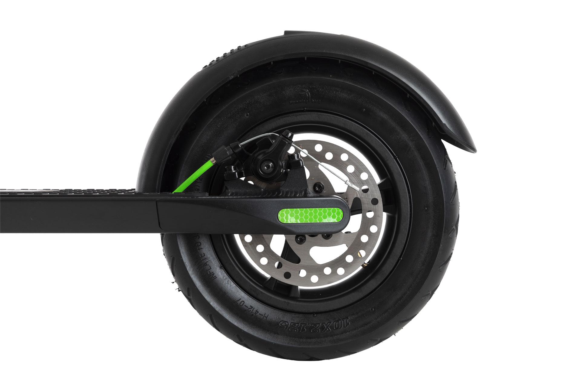 Beat monopattino verde ruota con freno a disco